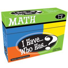 TEACHER CREATED RESOURCES I HAVE WHO HAS MATH GAMES GR 1-2