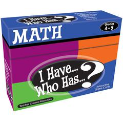 TEACHER CREATED RESOURCES I HAVE WHO HAS MATH GR 4-5