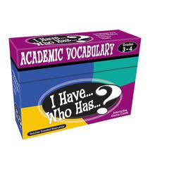 I HAVE WHO HAS GR 3-4 ACADEMIC VOCABULARY GAMES