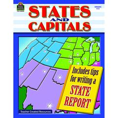TEACHER CREATED RESOURCES STATES AND CAPITALS GR 4-5