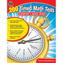 200 TIMED MATH TESTS ELEMENTARY AND MIDDLE GRADES