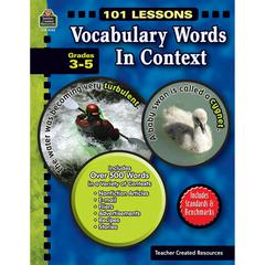 TEACHER CREATED RESOURCES 101 LESSONS VOCABULARY WORDS IN CONTEXT GR 3-5