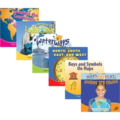 TEACHER CREATED RESOURCES LITTLE WORLD GEOGRAPHY BOOKS SET OF ALL 6