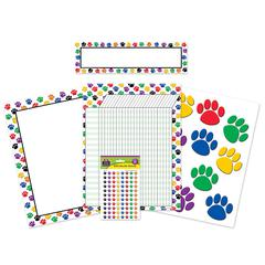 TEACHER CREATED RESOURCES COLORFUL PAW PRINTS CLASSROOM PACK