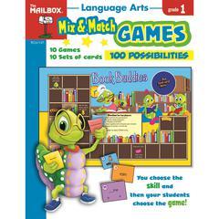MIX MATCH GAMES LANGUAGE ARTS GR 1