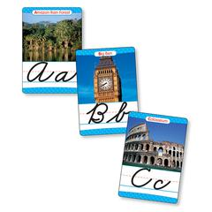 SCHOLASTIC TEACHING RESOURCES BB SET AROUND THE WORLD CURSIVE ALPHABET SET