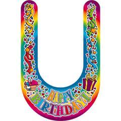 VISORS HAPPY BIRTHDAY 30/PK PLASTIC COATED