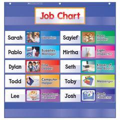 SCHOLASTIC TEACHING RESOURCES CLASS JOBS POCKET CHART GR K-5