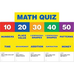 SCHOLASTIC TEACHING RESOURCES MATH CLASS QUIZ GR K-1 POCKET CHART ADD ONS
