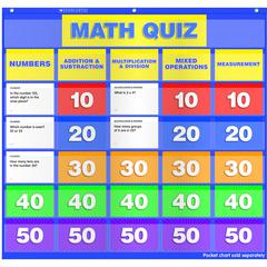 MATH CLASS QUIZ GR 2-4 POCKET CHART ADD ONS
