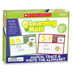 SCHOLASTIC TEACHING RESOURCES MATCH TRACE & WRITE THE ALPHABET LEARNING MATS