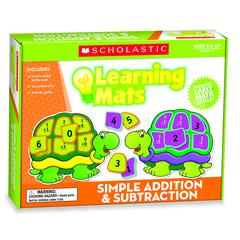 SCHOLASTIC TEACHING RESOURCES LEARNING MATS SIMPLE ADDITION & SUBTRACTION