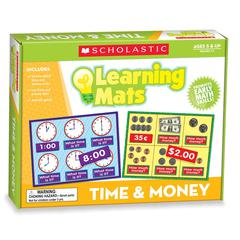 SCHOLASTIC TEACHING RESOURCES LEARNING MATS TIME AND MONEY
