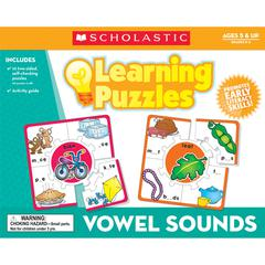 SCHOLASTIC TEACHING RESOURCES VOWEL SOUNDS LEARNING PUZZLES