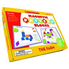 SCHOLASTIC TEACHING RESOURCES THE FARM MAGNETIC PATTERN BLOCKS