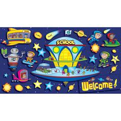 SCHOLASTIC TEACHING RESOURCES SPACE SCHOOL WELCOME BBS