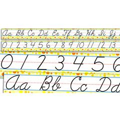 STANDARD CURSIVE ALPHABET AND NUMBERS 0-30