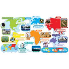 SCHOLASTIC TEACHING RESOURCES WORLD CONTINENTS BBS