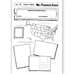 LORENZ / MILLIKEN POSTER PAPERS MY FAVORITE 30/PK STATE 2-SIDED 22 X 17 GR 3 & UP