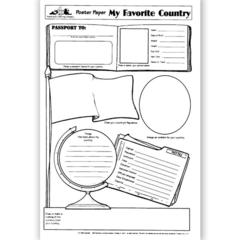 POSTER PAPERS MY FAVORITE 30/PK COUNTRY 2-SIDED 22 X 17 GR 4 & UP