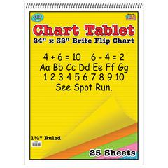 TOP NOTCH TEACHER PRODUCTS CHART TABLETS 24X32 ASSORTED 1 1/2 INCH RULED