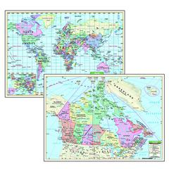 POLITICAL MAPS CANADA WORLD 5/SET DESKPAD