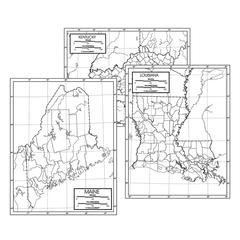 KAPPA MAP GROUP / UNIVERSAL MAPS 50 STATE OUTLINE MAP SET LAMINATED