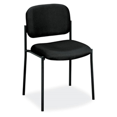HVL606 Stacking Guest Chair | Black Fabric