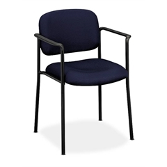 HVL616 Stacking Guest Chair | Fixed Arms | Navy Fabric