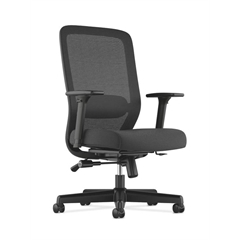 HVL721 Mesh High-Back Task Chair | Synchro-Tilt, Lumbar, Seat Glide | 2-Way Arms | Black Fabric