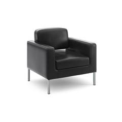 HVL887 Club Chair | Black SofThread Leather