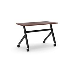 "Multi-Purpose Table | Fixed Base | 48""W | Chestnut Laminate | Black Finish"