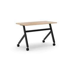 "basyx by HON Multi-Purpose Table | Fixed Base | 48""W | Wheat Laminate | Black Finish"