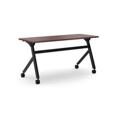 "Multi-Purpose Table | Flip Base | 60""W | Chestnut Laminate | Black Finish"