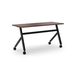 "basyx by HON Multi-Purpose Table | Fixed Base | 60""W | Chestnut Laminate | Black Finish"