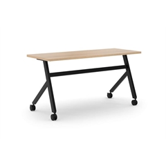"basyx by HON Multi-Purpose Table | Fixed Base | 60""W | Wheat Laminate | Black Finish"