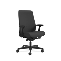 Endorse Mid-Back Task Chair | Fabric Outer Back | Built-In Lumbar | Synchro-Tilt, Seat Glide | Black Fabric