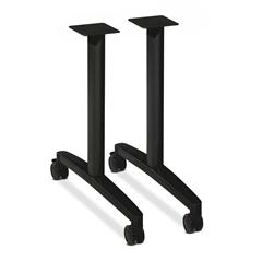 HON Huddle Table Base Kit | T-Style | Black Finish | 2 Bases per Kit