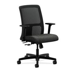 HON Ignition Low-Back Mesh Task Chair | Center-Tilt | Adjustable Arms | Gray Fabric