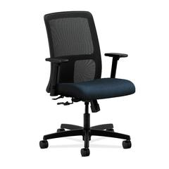 HON Ignition Low-Back Mesh Task Chair | Center-Tilt | Adjustable Arms | Blue Fabric