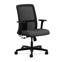 HON Ignition Low-Back Mesh Task Chair | Center-Tilt | Adjustable Arms | Iron Ore Fabric