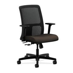 HON Ignition Low-Back Mesh Task Chair | Center-Tilt | Adjustable Arms | Espresso Fabric