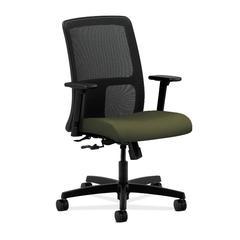 HON Ignition Low-Back Mesh Task Chair   Center-Tilt   Adjustable Arms   Olivine Fabric