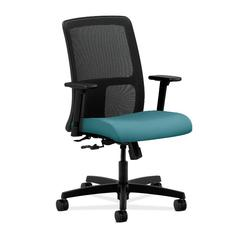 HON Ignition Low-Back Mesh Task Chair | Center-Tilt | Adjustable Arms | Glacier Fabric