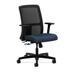 HON Ignition Low-Back Mesh Task Chair | Center-Tilt | Adjustable Arms | Ocean Fabric