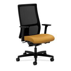 HON Ignition Mid-Back Mesh Task Chair | Synchro-Tilt, Back Angle | Adjustable Arms | Mustard Fabric