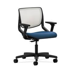 HON Motivate Task Chair   Fog ilira-Stretch Back   Adjustable Arms   Regatta Fabric