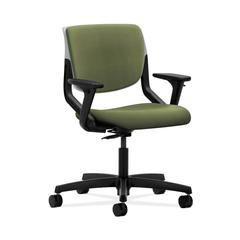HON Motivate Task Chair | Upholstered Back | Adjustable Arms | Platinum Shell | Clover Fabric