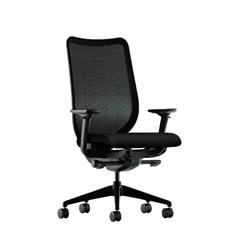 HON Nucleus Task Chair | Black ilira-Stretch Back | Synchro-Tilt, Seat Glide | Adjustable Arms | Black Fabric