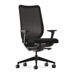 HON Nucleus Task Chair | Black ilira-Stretch Back | Synchro-Tilt, Seat Glide | Adjustable Arms | Black Fabric